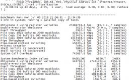 搬瓦工 512M/1核vps性能测评,包括unixbench与zbench报告