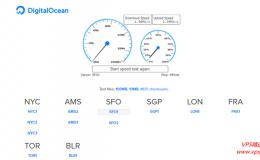 DigitalOcean全球八大机房测评报告