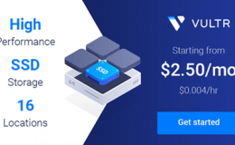 vultr全新界面改版,推出高性能vps系列,性能提升40%