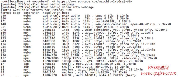 Vps 安装 youtube_dl 实现 youtube、优酷、pr*nhub 等视频下载