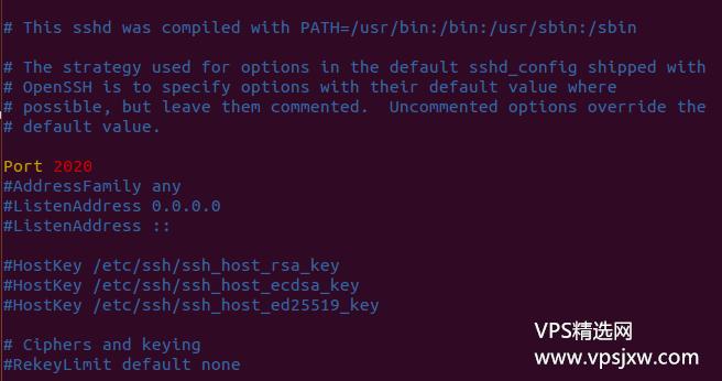 修改 ssh 默认 22 端口,防止暴力破解和端口被封