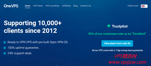 Onevps 千兆端口、不限流量 VPS,终身七折优惠码,低至 2.8 美元起