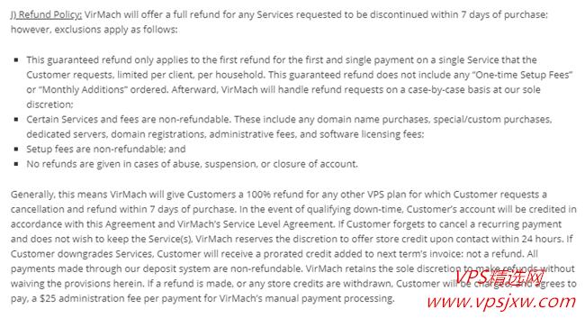 Virmach---官方退款政策及实际操作流程