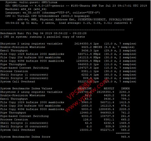 VULTR 新加坡机房 vps 云主机性能网络线路测评
