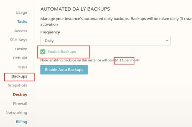 Cloudcone 备份、快照、快照恢复使用说明及教程